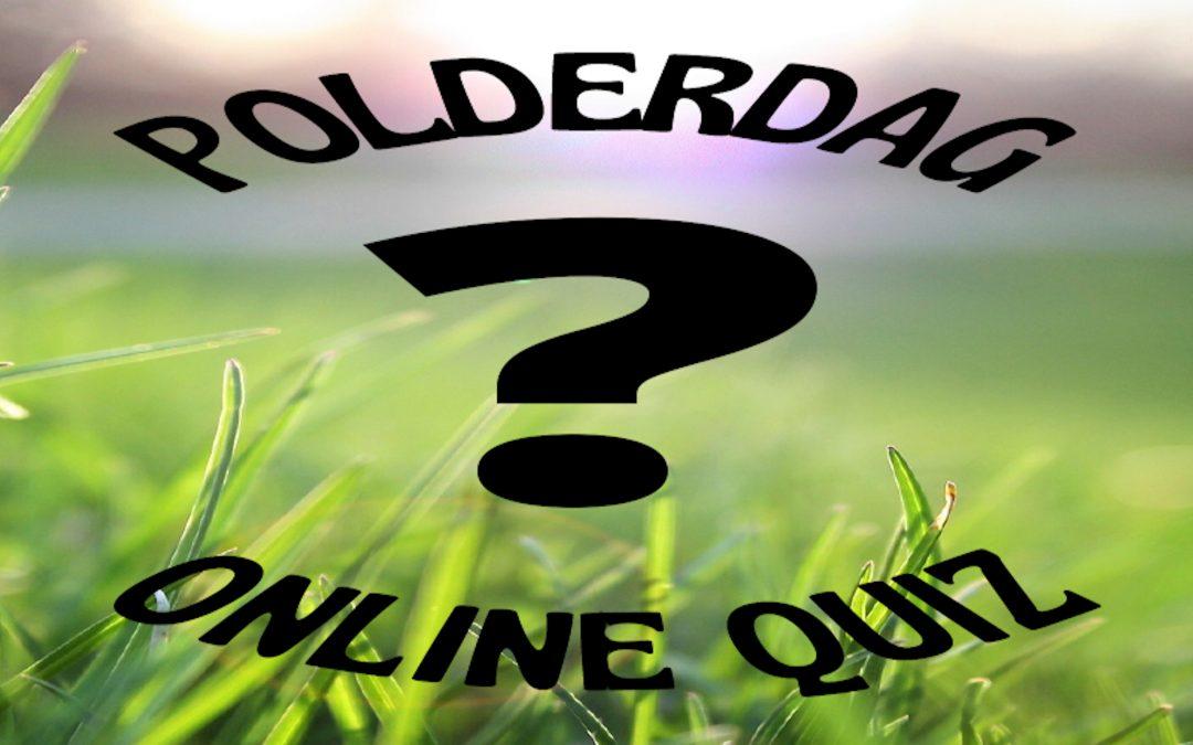 Doe mee aan de Polderdag-quiz op 12 mei a.s.